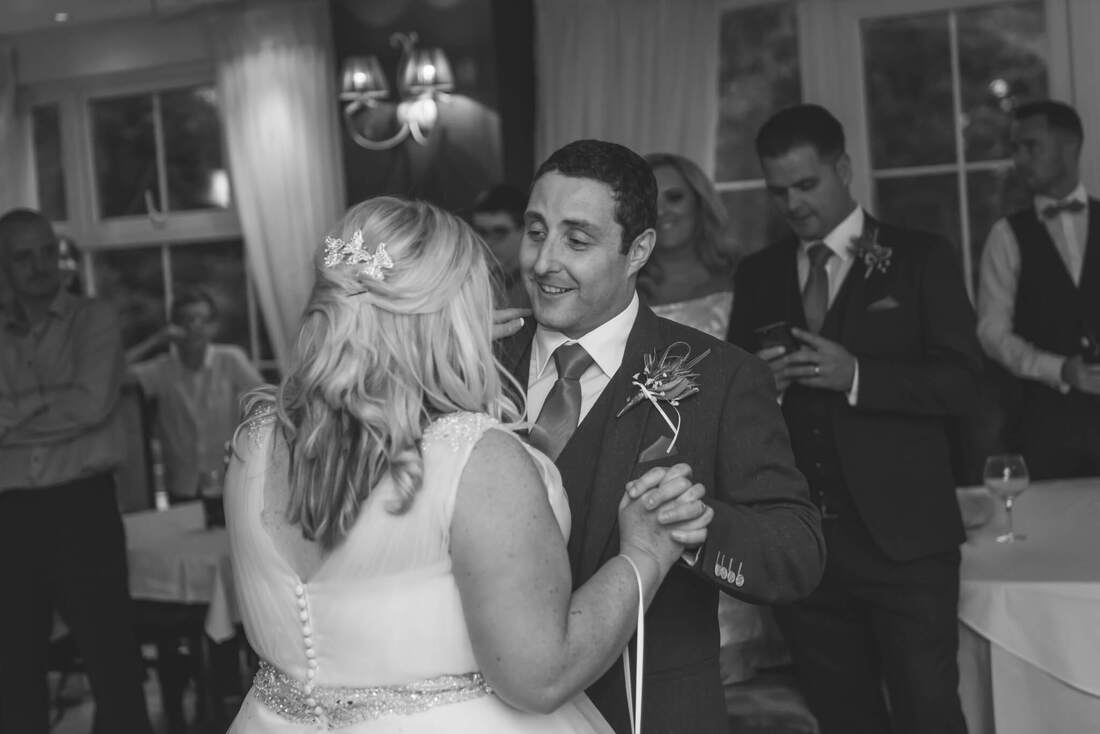Ann & Andrew enjoy their first dance at their Civil Ceremony - Wedding at The Red Door Country House, Fahan, County Donegal, Ireland by Patrick Duddy Documentary Wedding Photographer.