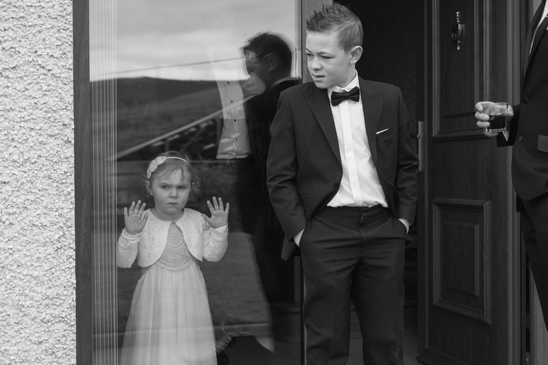 Young Flowergirl & PageBoy ready to leave for the Ballyscullion Park Wedding