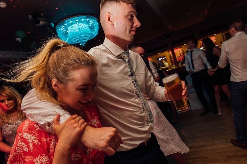 Crazy Dance floor time at the Ballyliffin Lodge at Paddy & Nadine's Belfast Wedding!