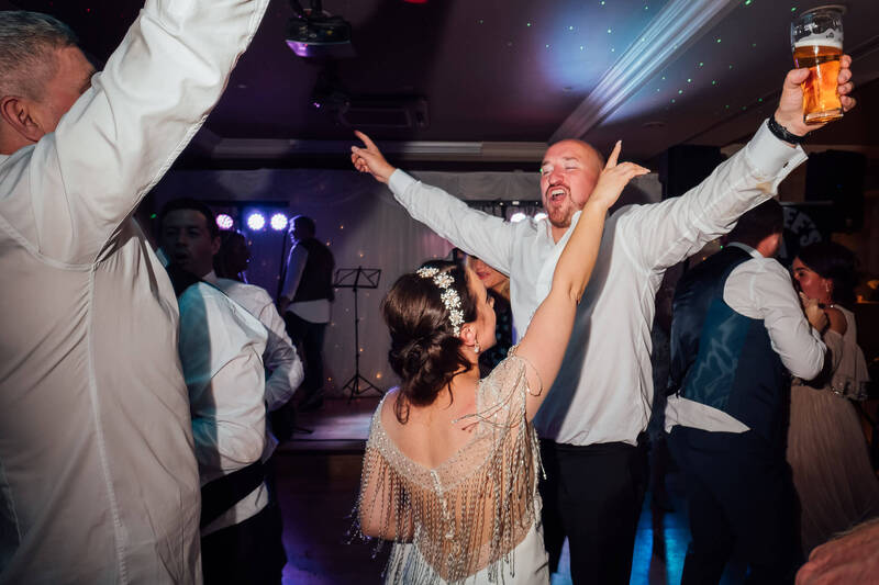 Groomsmen take over the dance floor at the Ballyliffin Lodge Hotel, Donegal as Paddy & Nadine take Belfast to Donegal to celebrate their Wedding Civil Ceremony
